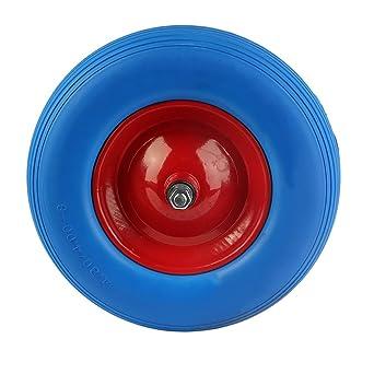 2 piezas carretilla rueda de ruedas de goma para carretilla en Llanta de acero Eje Incluye
