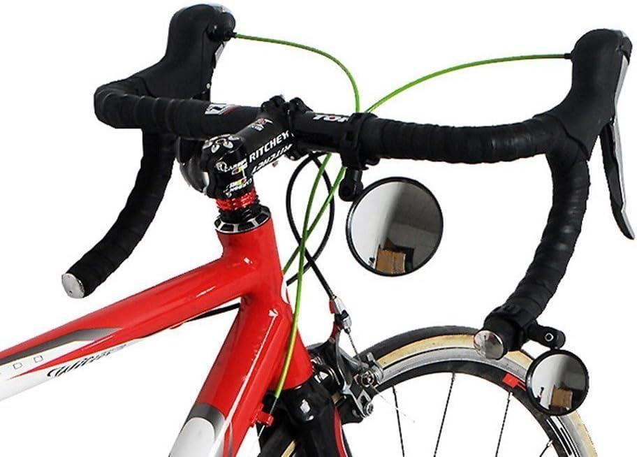 TOPCABIN 1/paio ciclismo equitazione bicicletta retrovisore specchio convesso riflettore con obiettivo grandangolare universale regolabile e maniglia per bici da strada mountain bike