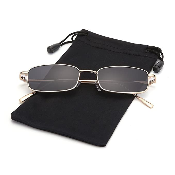 Amazon.com: LOOKEYE - Gafas de sol rectangulares, pequeñas ...