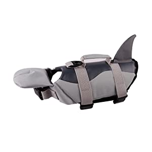 PETCEE Dog Life Jacket Has Great Buoyancy, Adjusttable Belts and Rescue Handle
