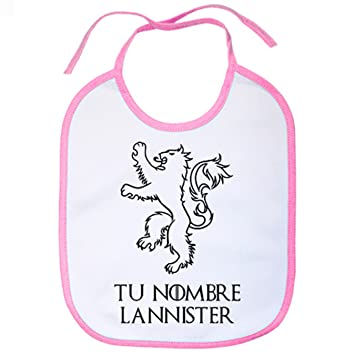 bib game of thrones customizable put your name lannister example