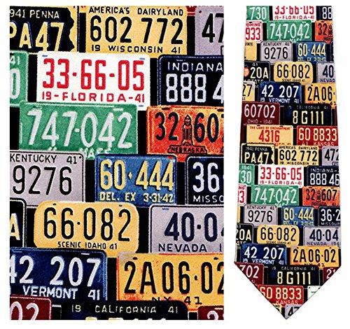 Museum Artifacts Norman Rockwell License Plate Silk Necktie
