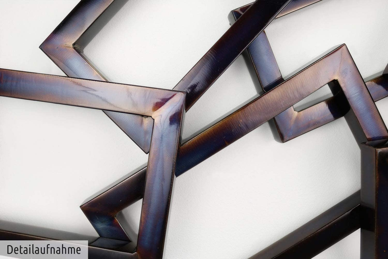 Kunstloft® Extravagante Escultura de Pared de Metal Time Will ...