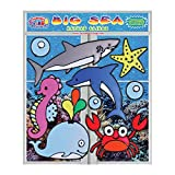 Big Sea Flexible Gel Clings – Double XL Set 2 Sides Reusable Window Clings for Kids and Adults - Incredible Gel Decals of The Ocean, Fish, Crab, Whale, Dolphins, Seahorse, Shark and More