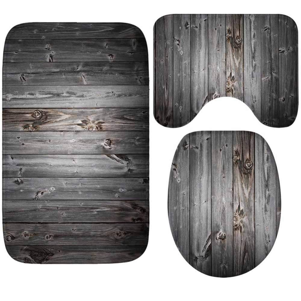 LYJ LYJ LYJ Teppich Wasserabsorbierende Rutschfeste Matten Kreative dreiteilige Badmatten aus Holz mit Aufdruck Kreative Teppiche für zu Hause B07LDLBPJQ Messbecher & Mae 1f5d30