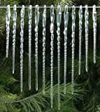Glass Icicles Christmas Ornaments Hand Blown Crystal