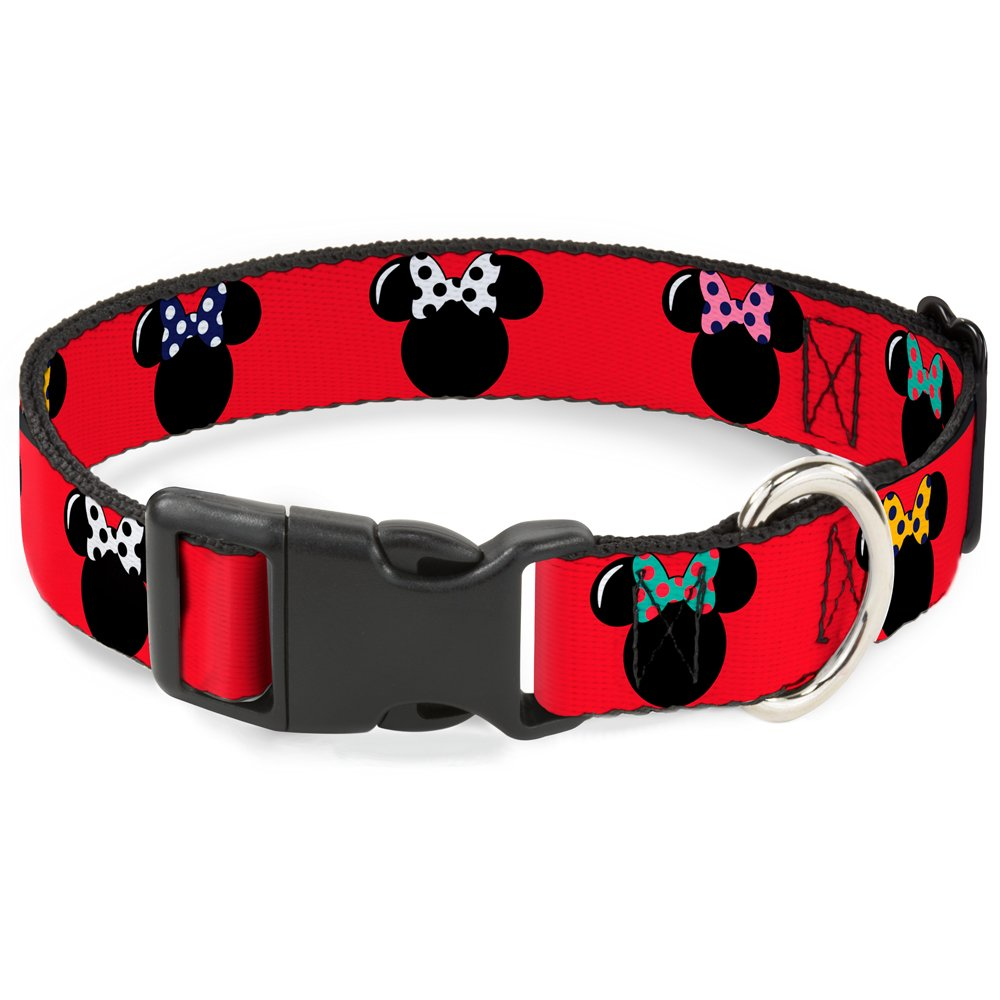 1 2\ Buckle-Down BAC-WDY097-NS Breakaway Cat Collar-Minnie Mouse Silhouette Red Black Polka Dot, 1 2  W-6-9  Neck-Small