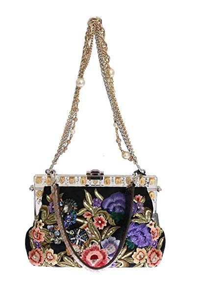 b908368f85f1 Amazon.com  Dolce   Gabbana - Multicolor VANDA Floral Embroidered ...