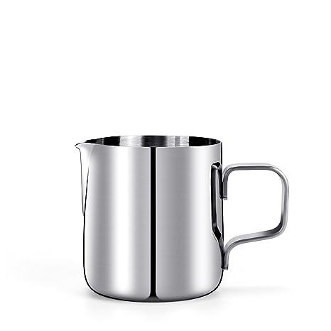 HULISEN Mini leche Espuma Jarra, Acero Inoxidable 150ml / 5fl.oz Café Jarra de leche Jarra de leche