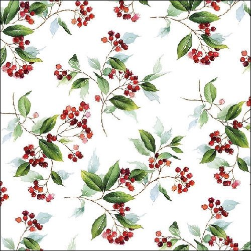 4 Paper Napkins for Decoupage - 3-ply, 33 x 33cm - Christmas - Winter Foliage (4 Individual Napkins for Craft and Napkin Art.) Tigers on the Loose