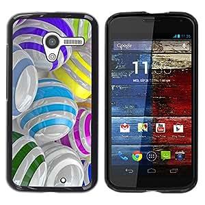 For MOTO X / XT1058 / XT1053 / XT1052 / XT1056 / XT1060 / XT1055 Case , Colorful Glass Reflective Orb Abstract - Diseño Patrón Teléfono Caso Cubierta Case Bumper Duro Protección Case Cover Funda