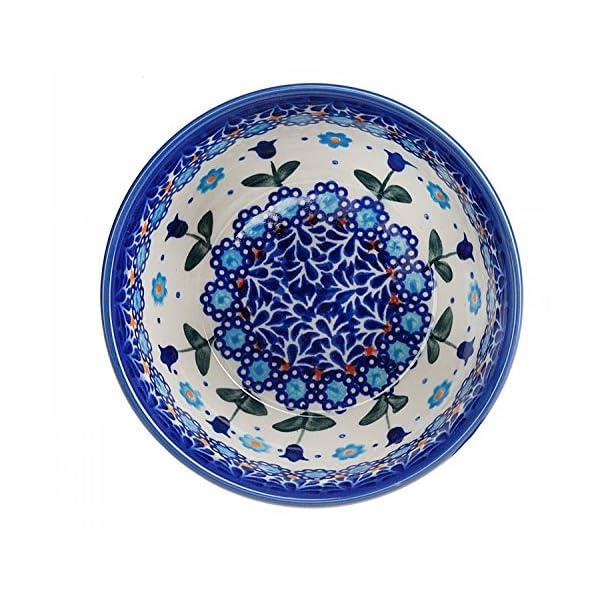 BCV Classic Boleslawiec Pottery Hand Painted Ceramic Bowl 350ml,071 (U-006)