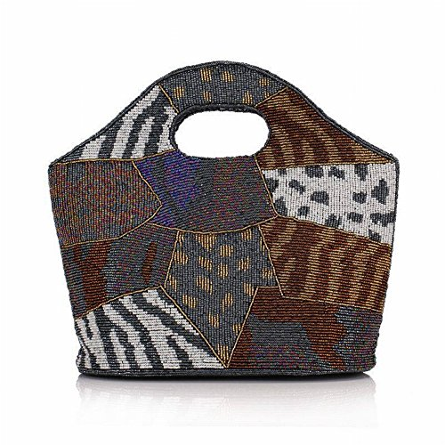 Mama YTTY Drill Dinner Bag Cheongsam Handbag Clutch Handbag Bag Grey Ethnic Zipper Beaded China Retro Pillow Tough Wedding Tote Beaded Trendy Plaid Clutch qEUxrqw