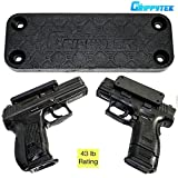 GrippyTek Magnetic Gun Mount & Holster For Vehicle And Home | Rubber Coated 43 LBS Rated – Firearm Accessory. Concealed Holder For Handgun, Shotgun, Rifle, Pistol, Revolver, Car, Truck, Wall,Desk For Sale