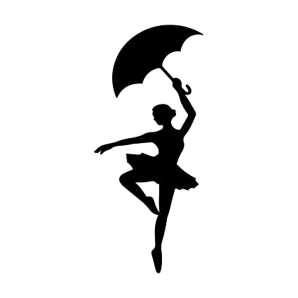 e7900d9c78d6e Amazon.com: Bargain Max Decals Ballerina with Umbrella Decal Notebook Car  Laptop 5.5
