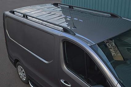 Barras de techo para L1H1 Trafic (2014+) aluminio negro: Amazon.es: Coche y moto