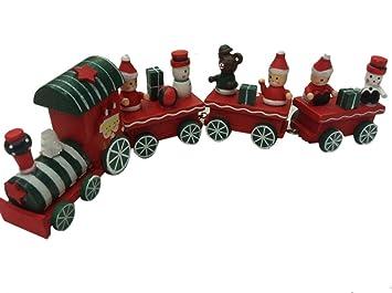 Eisenbahn Weihnachtsdeko.Ld Weihnachten Deko Cute Weihnachtszug Holz Zug Eisenbahn