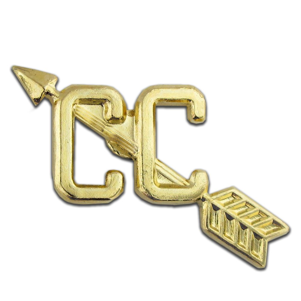 JDS Industries Cross Country Gold Chenille 1'' Lapel Pin