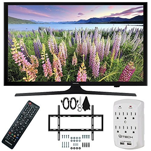 Samsung UN50J5000 - 50-Inch Full HD 1080p LED HDTV Slim Flat Wall Mount Bundle includes 50-Inch LED HD TV, Slim Flat Wall Mount Ultimate Bundle and Surge Protector with USB Ports