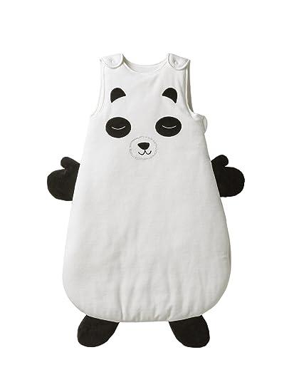 Vertbaudet Mono sin mangas Panda Mon Ami blanco blanco / negro Talla:6/18M
