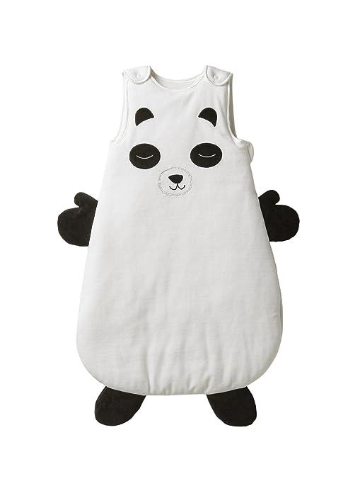 Vertbaudet Mono sin mangas Panda Mon Ami blanco blanco / negro Talla:18/36M