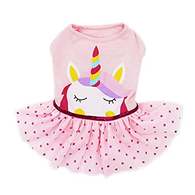 kyeese Dog Unicorn Dresses Girl Dog Dress Party Birthday Pet Apparel