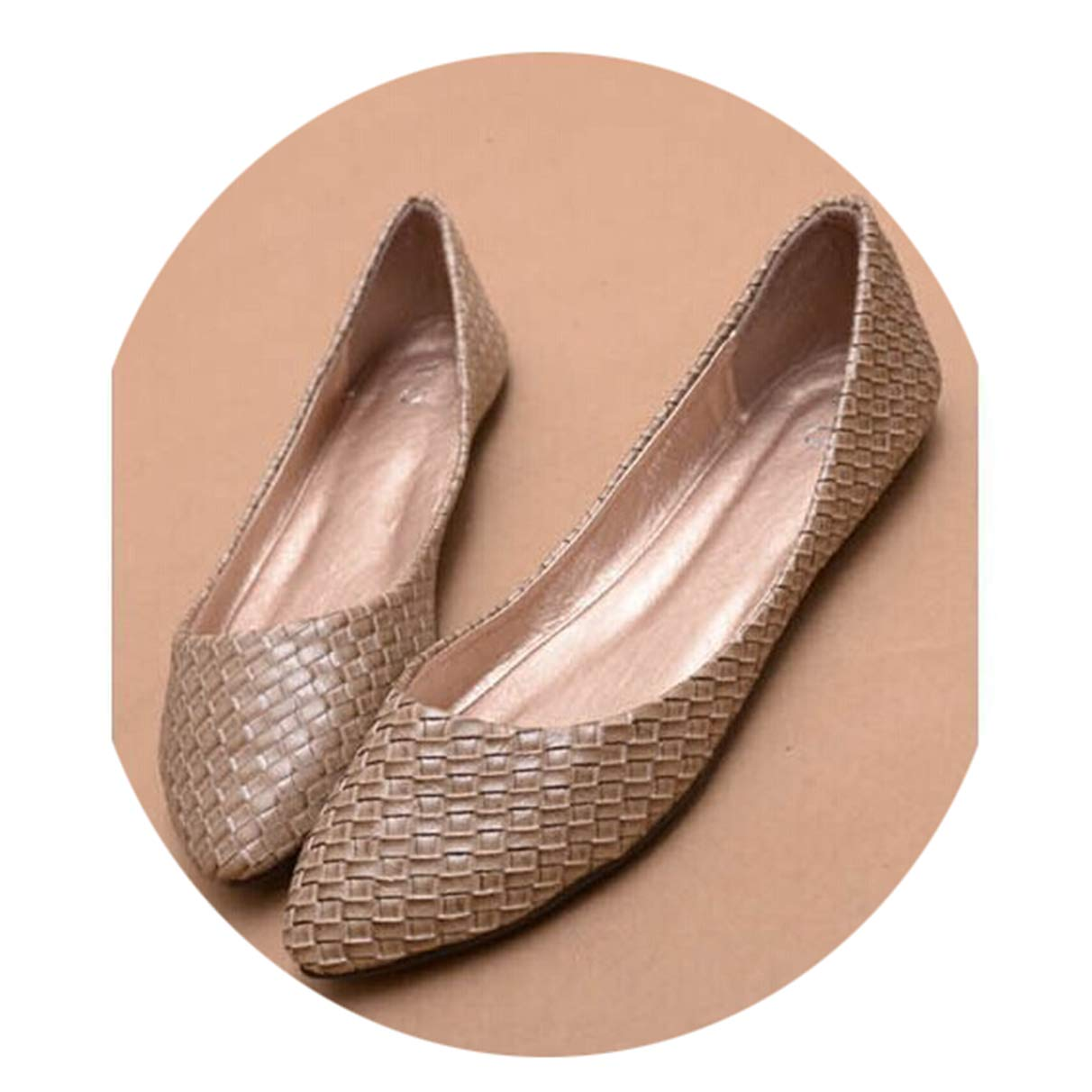 Women Solid Flats, Summer Soft Bowtie Slip-On Pointed Toe Ballet Shoes