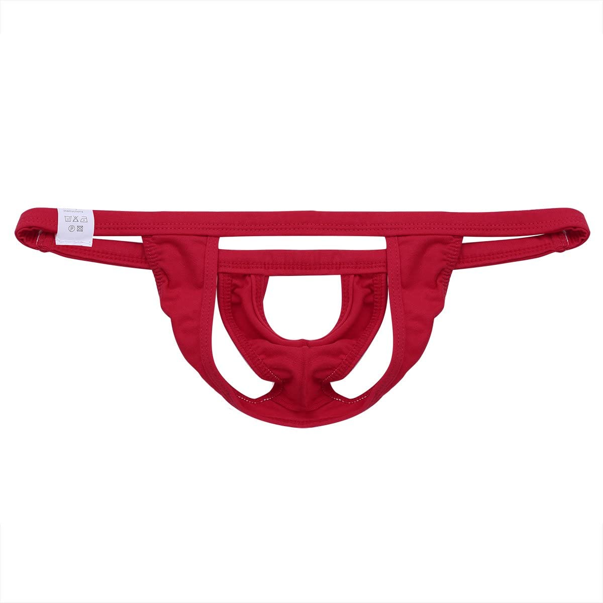 Agoky Mens Open Front Hole Underwear Jock Strap C-Strap Enhancing Briefs Pouch Lifter Thong