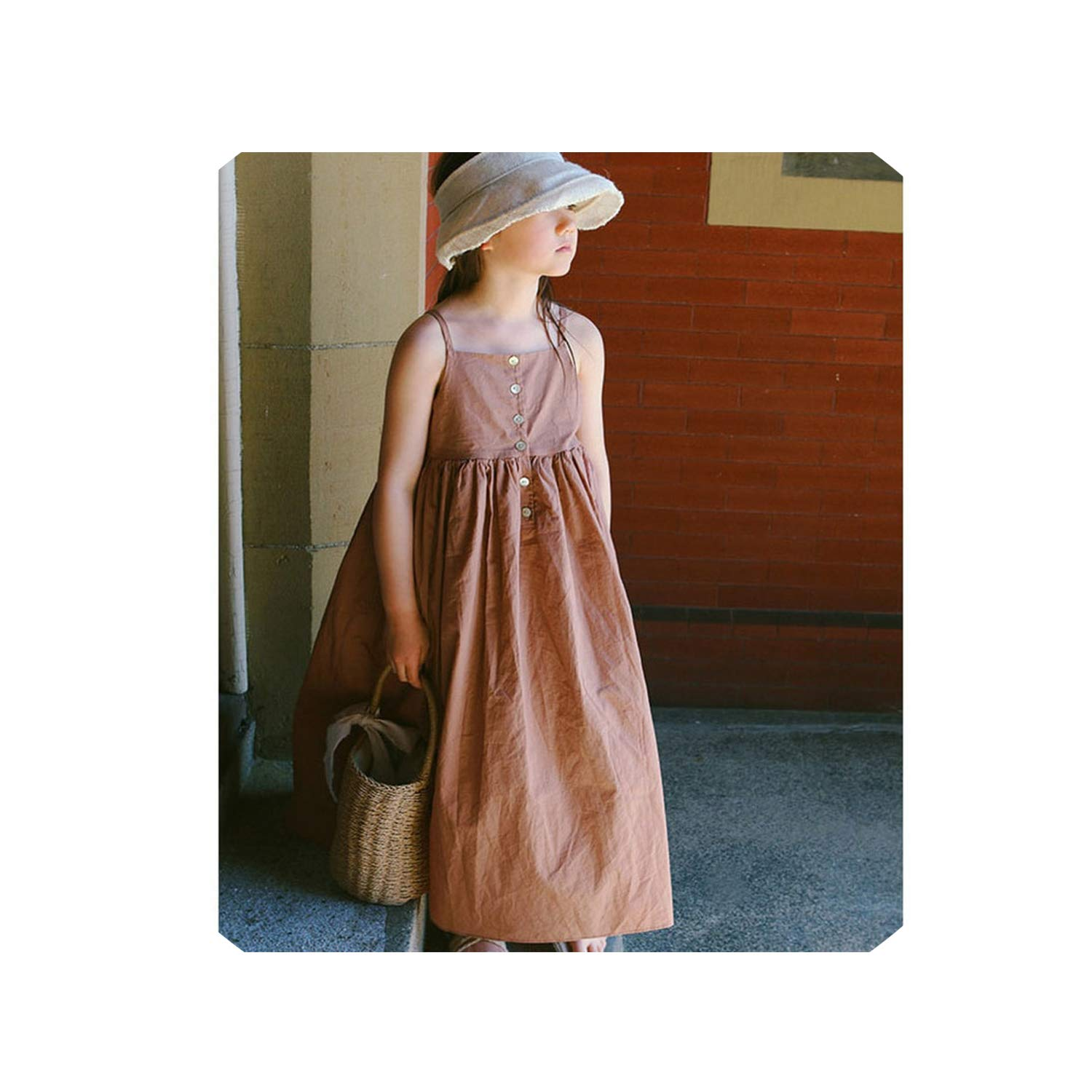 Long Big Girls Dress Summer New Cotton Sleeveless Loose Party Dresses for Girl Baby School Children Dress Clothing,Kids Party Dress,7