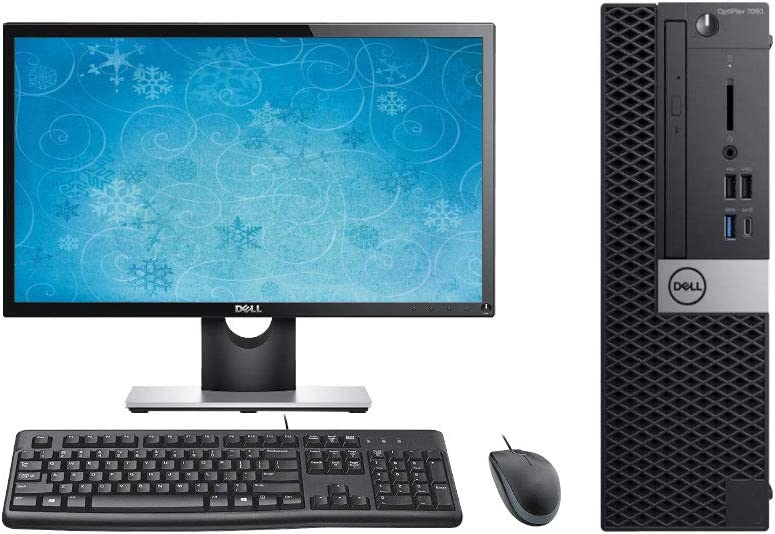 "Dell Optiplex 7060 SFF Desktop Computer Bundle, 24"" Display, Keyboard, Mouse, Intel i7-8700 3.2GHz, 16GB RAM, 1TB NVMe SSD, Windows 10 Pro OS"