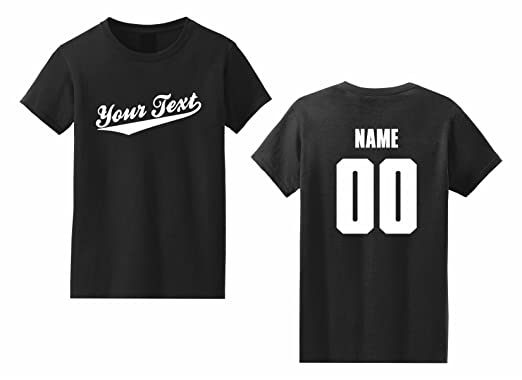 5b2f3f8a Women's Custom Personalized T-shirt, Baseball Script, Back Name & Number