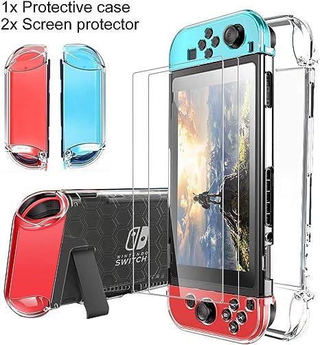 Funda Transparente para Nintendo Switch,DOYO Cubierta Protectora Transparente para Nintendo Switch Cómoda TPU Estuche de Accesorios para Nintendo Switch.: Amazon.es: Videojuegos
