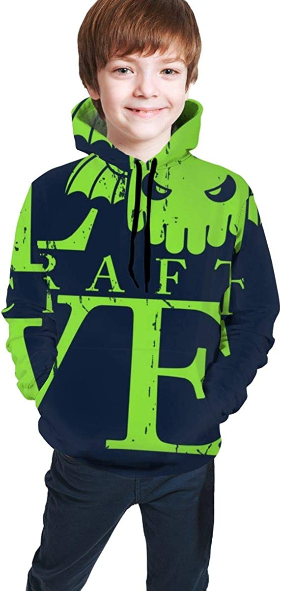 Love Craft Hp Lovecraft Cthulhu 3D Print Pullover Hoodies Hooded Sweaters Sweatshirts for Kids Teens Boys Girls