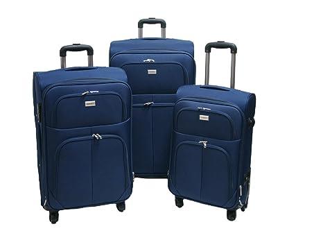 Trolley valigia set valigie semirigide set bagagli in tessuto super leggeri  4 ruote piroettanti trolley piccolo 71722e9f04e