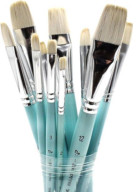 fessional Painting Set 6pcs Acrylic Oil Watercolors Artist Paint Brushes U