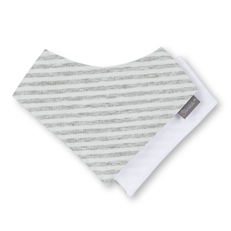 Sterntaler - Baby Jungen Dreieckstuch Halstuch Klettverschluss gestreift, weiß - 1101800 1451801