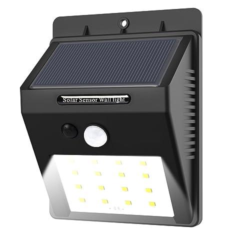 16 LED solar Leuchten con detector de movimiento, E de TRO resistente al agua Solar