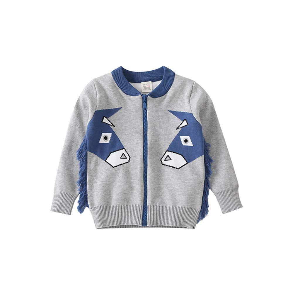 KONFA Teen Toddler Baby Boys Girls Cartoon Donkey Cardigan Coat,Kids Jacket Tops Winter Outerwear Clothes Set