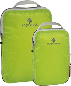 Eagle Creek Pack-It Specter Compression Packing Cubes, Strobe Green, Set of 2