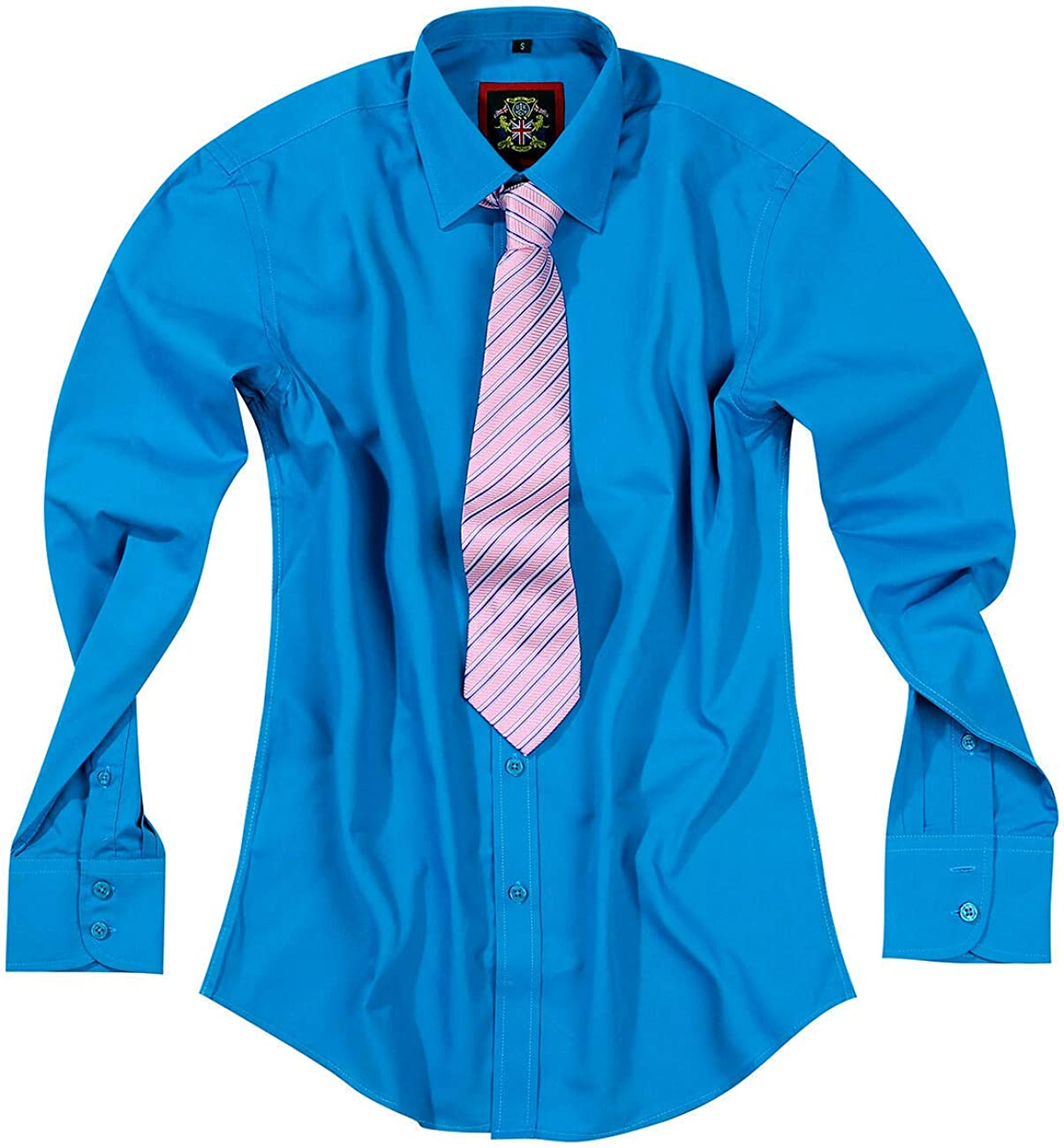 Camisas formales para hombre para oficina, negocios, traje de boda y manga larga casual, 10 colores brillantes. Ropa británica Janeo, hombre más ...