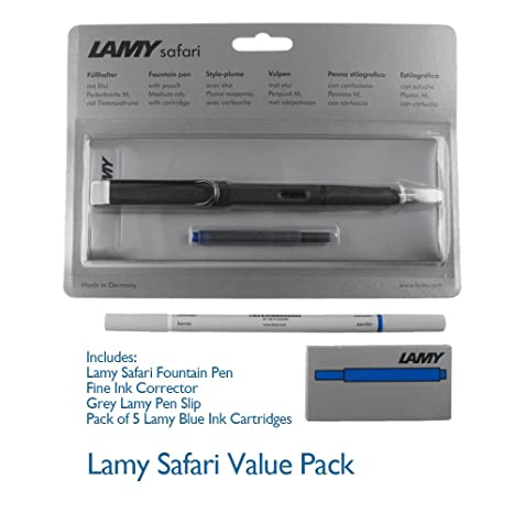 Amazon.com : Lamy Safari Matte Black Fountain Pen- M Nib ...