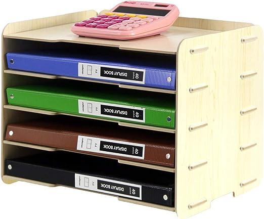 ivansa Organizador de escritorio madera, mesa organizador ...