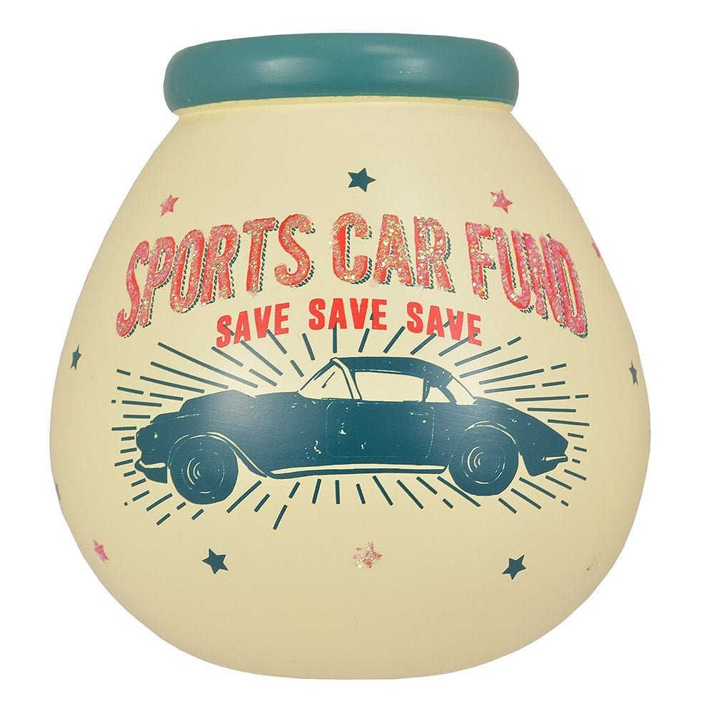 Pot Of Dreams Ceramic Money Pot - Sports Car Fund