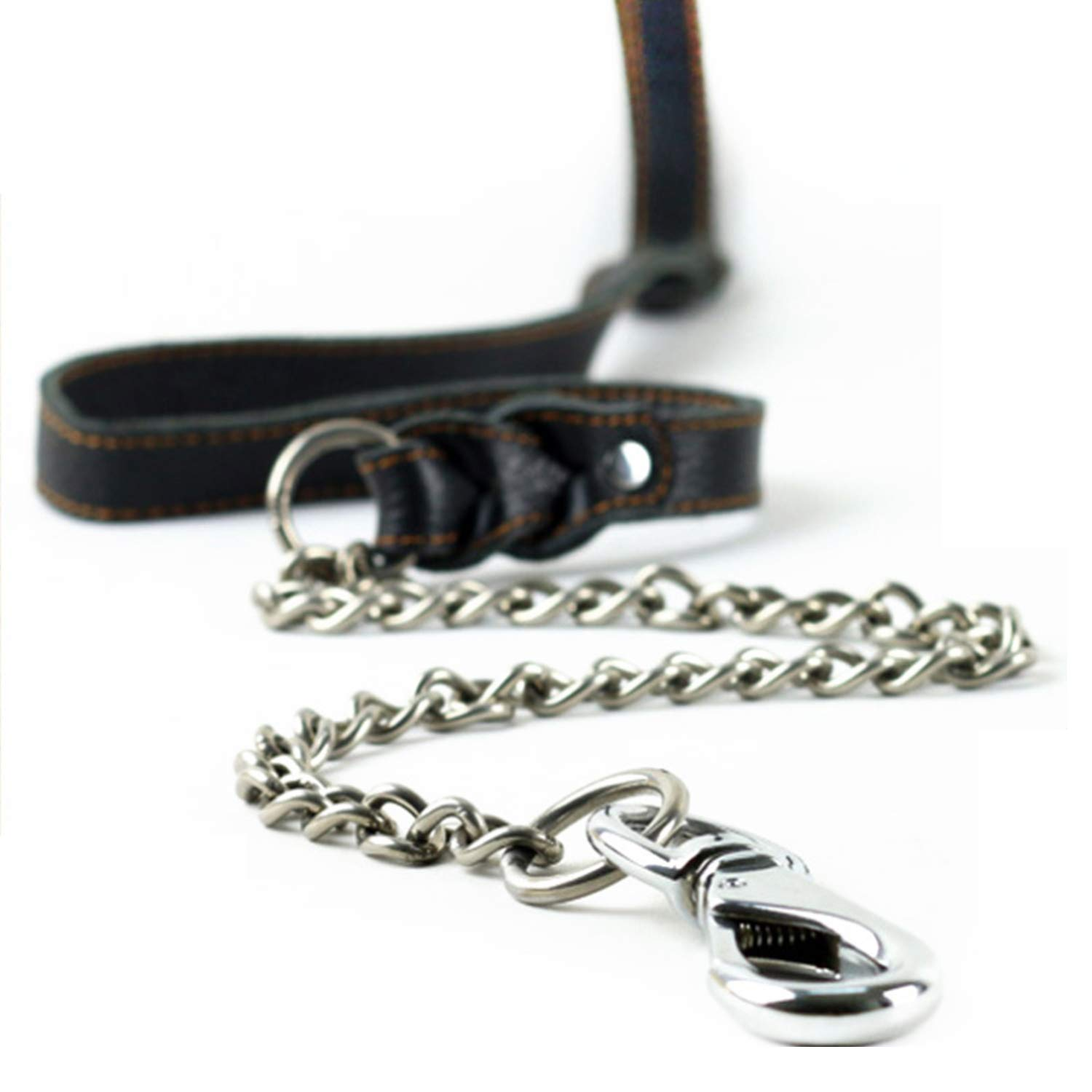 Pet Leash Rope Suitable for Medium and Large Dogs Walking Training Stainless Steel Anti-Bite Dog Chain, Durable