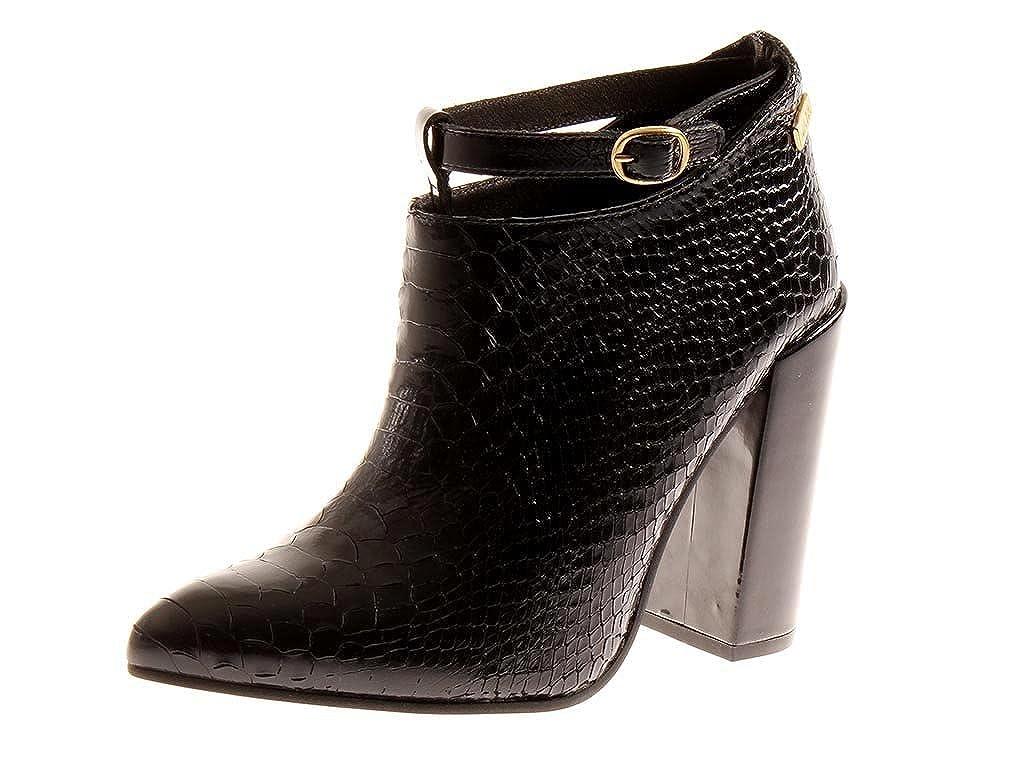 Nata Schuhes Heels elegante Lederstiefelette Stiefelette Lederschuhe High Heels Schuhes 1457 Preto 5528b3