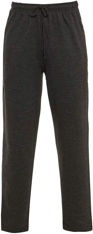 per Palestra Elite Pleasure Sport Tinta Unita Taglia UK S-5XL Pantaloni da Jogging da Uomo con Orlo opem Tasche con Cerniera Yoga