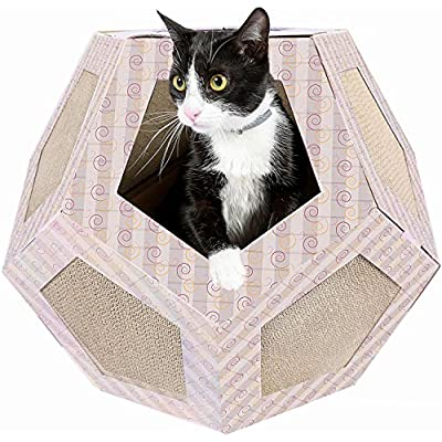 Polygon Cat House For Indoor Cats Toys Cat Corner Scratcher Play Cat Toys Cat Furniture and Scratching Post