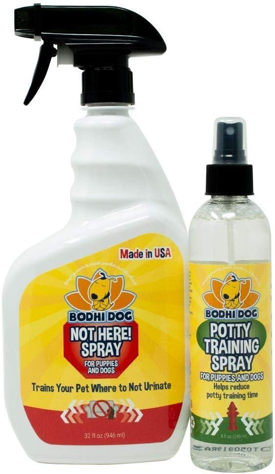 Bodhi Dog Not Here Spray 32oz + Potty Training Spray 8oz Bundle