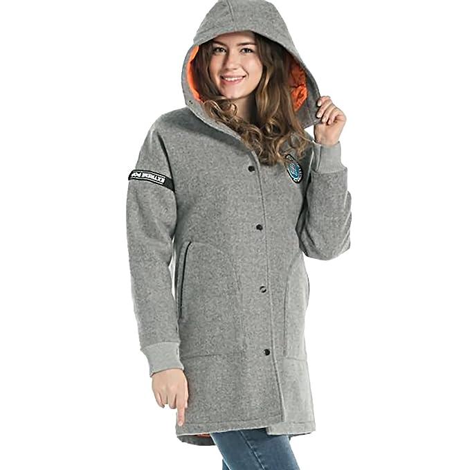 sale retailer 70703 1acd2 Extreme Pop Donna Cappotto Oversize con Cappuccio Oversize ...