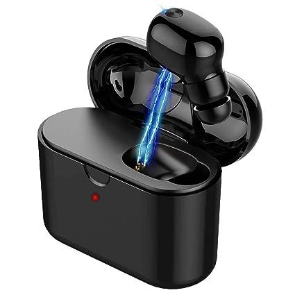 457ab62ccfc Coding Wireless Bluetooth Earphone,Mini Bluetooth Earbud, Single Wireless  Earbud with 48 Hour Battery